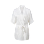 Personalised Girls Ivory Flower Girl Dressing Gown/Bathrobe - varsanystore