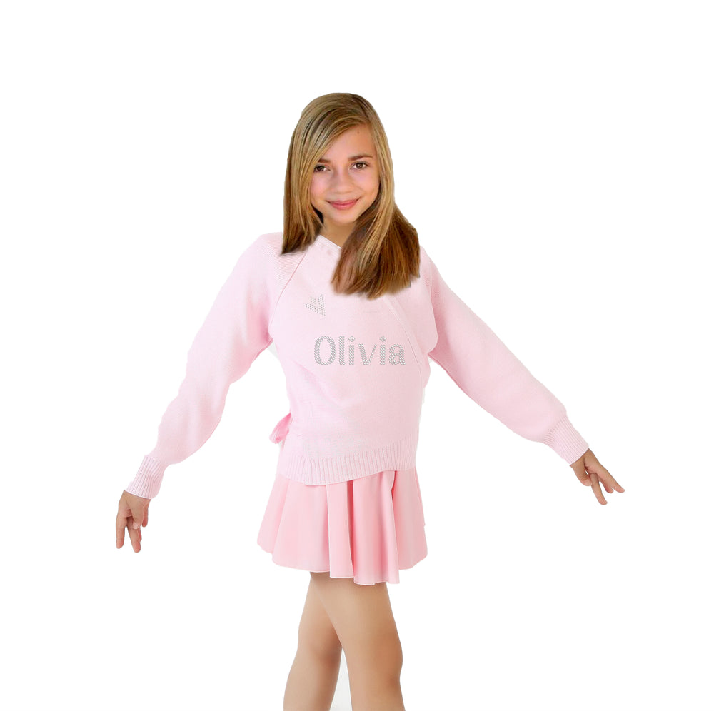 Personalised Girls Pink Cardigan Wrap Over - varsanystore