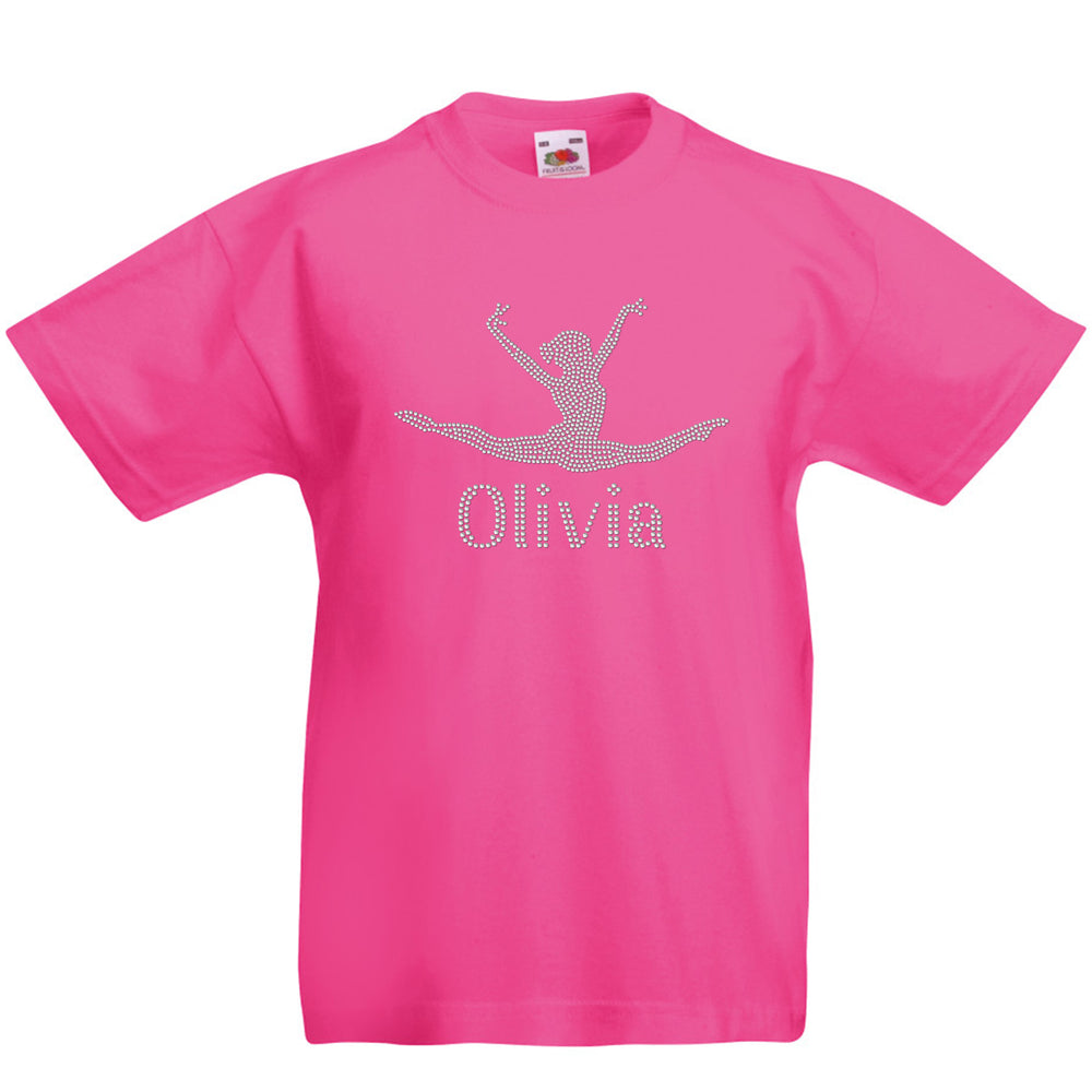 Girls Gymnastic Inspired Jump Split T-Shirt - varsanystore