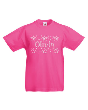 Personalised Girls Stars T-Shirt - varsanystore