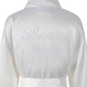 Brides Auntie Satin Dressing Gown / Bathrobe - varsanystore