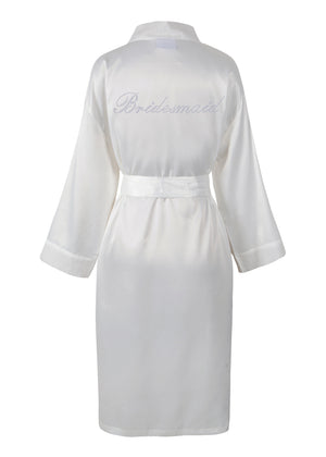 Bridesmaid Satin Dressing Gown / Bathrobe - varsanystore