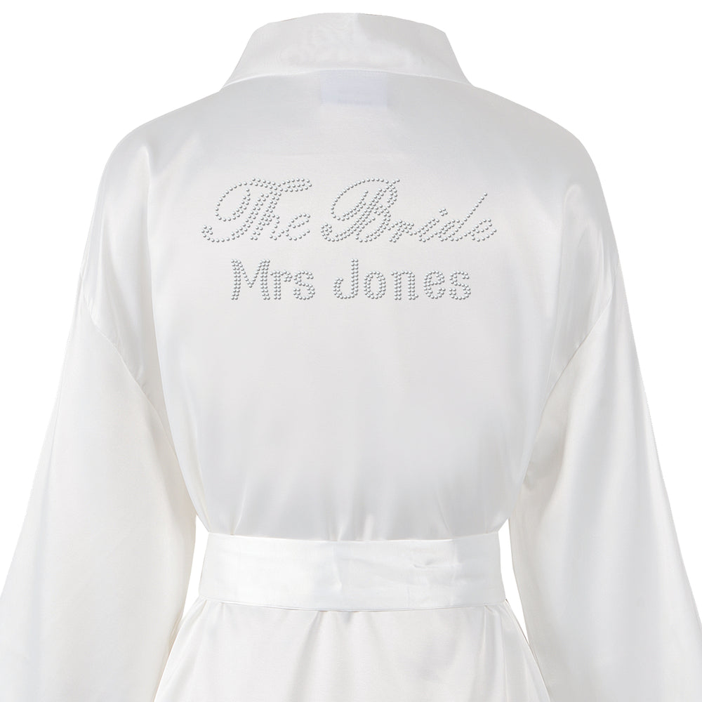 "Personalised ""The Bride"" Wedding Bathrobe/Kimino - Varsany"