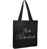 Crystals Just Married Wedding Tote Bag - varsanystore