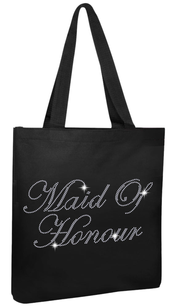 Crystals Maid of Honour Wedding Tote Bag - varsanystore