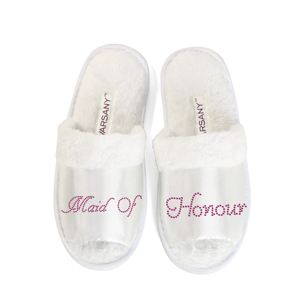 Crystals Maid of Honour Party Spa OT Slippers - varsanystore