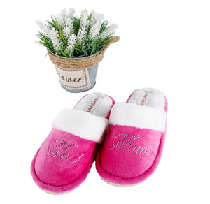 Crystals Pink No.1 Best Mum House Slippers - varsanystore