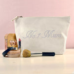 No.1 Mothers Day Personalised Crysal Makeup Bag - varsanystore