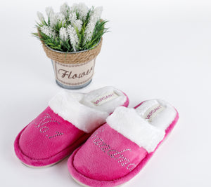 Crystals Pink No.1 Best Grandma House Slippers - varsanystore