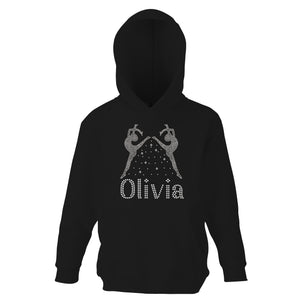 Personalised Girls Mirror Diamante Hoodie - varsanystore