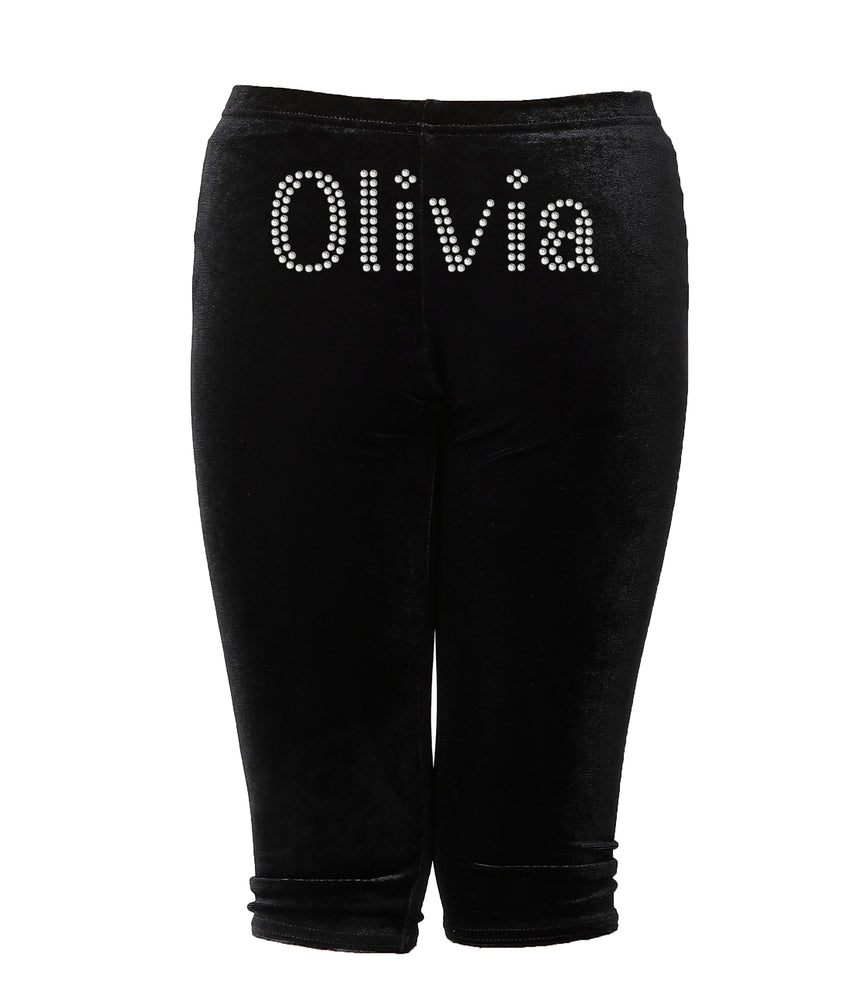 Personalised Girls Black Leggings - varsanystore