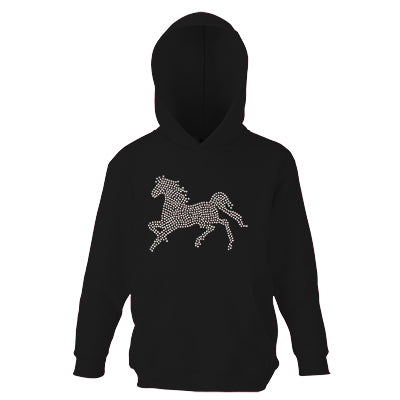 Personalised Girls Gallop Horse Face Hoodie - varsanystore