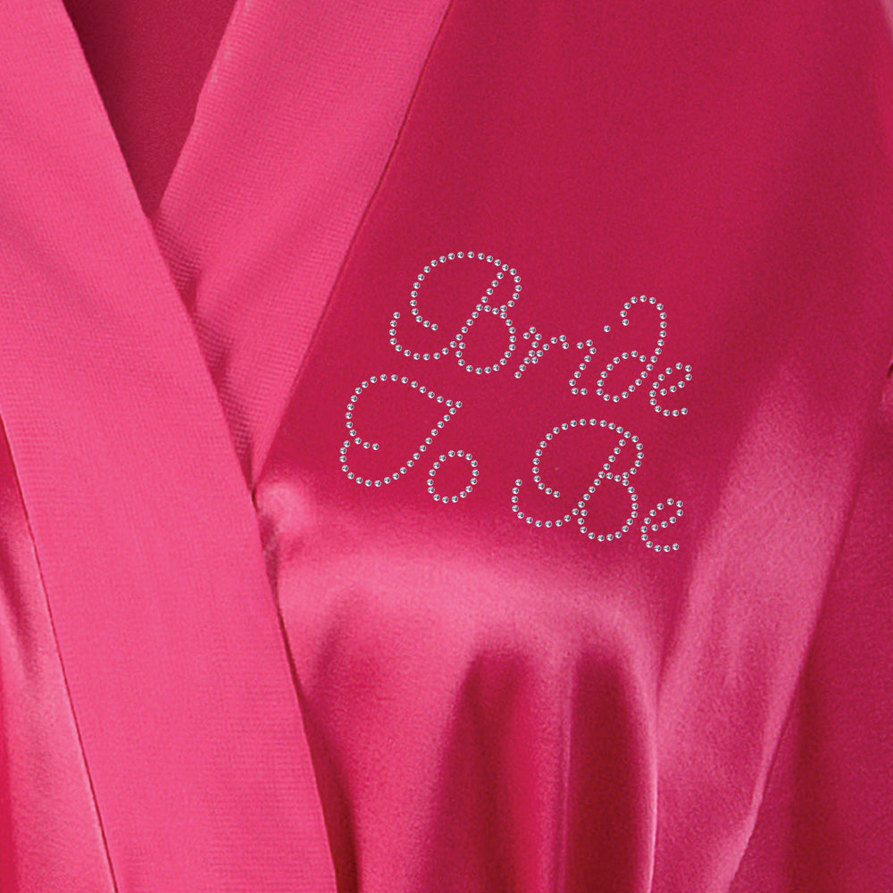 Bride To Be Satin Dressing Gown / Bathrobe - varsanystore
