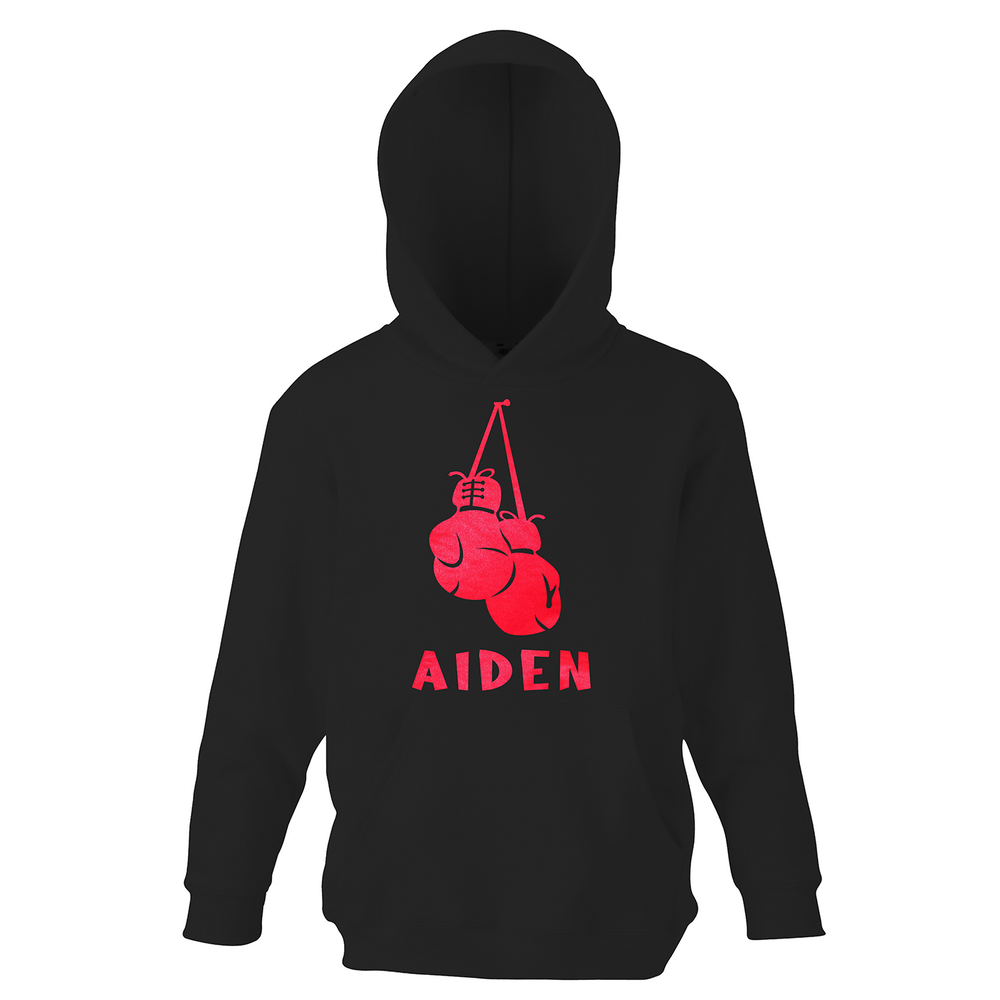Personalised Boys Boxing Gloves Hoodie - varsanystore