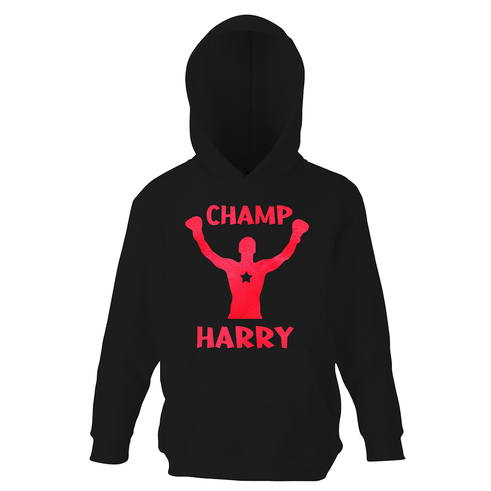 Personalised Boys Boxing Champ Hoodie - varsanystore