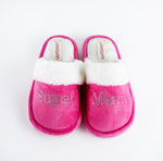 Varsany Pink Crystal Super Mum Best House Slippers Mother's Day Christmas or Birthday present gift - varsanystore