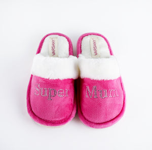 Crystals Pink Best Super Mum House Slippers - varsanystore