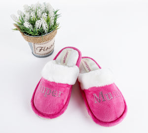 Pink Super Mum House Slippers - varsanystore