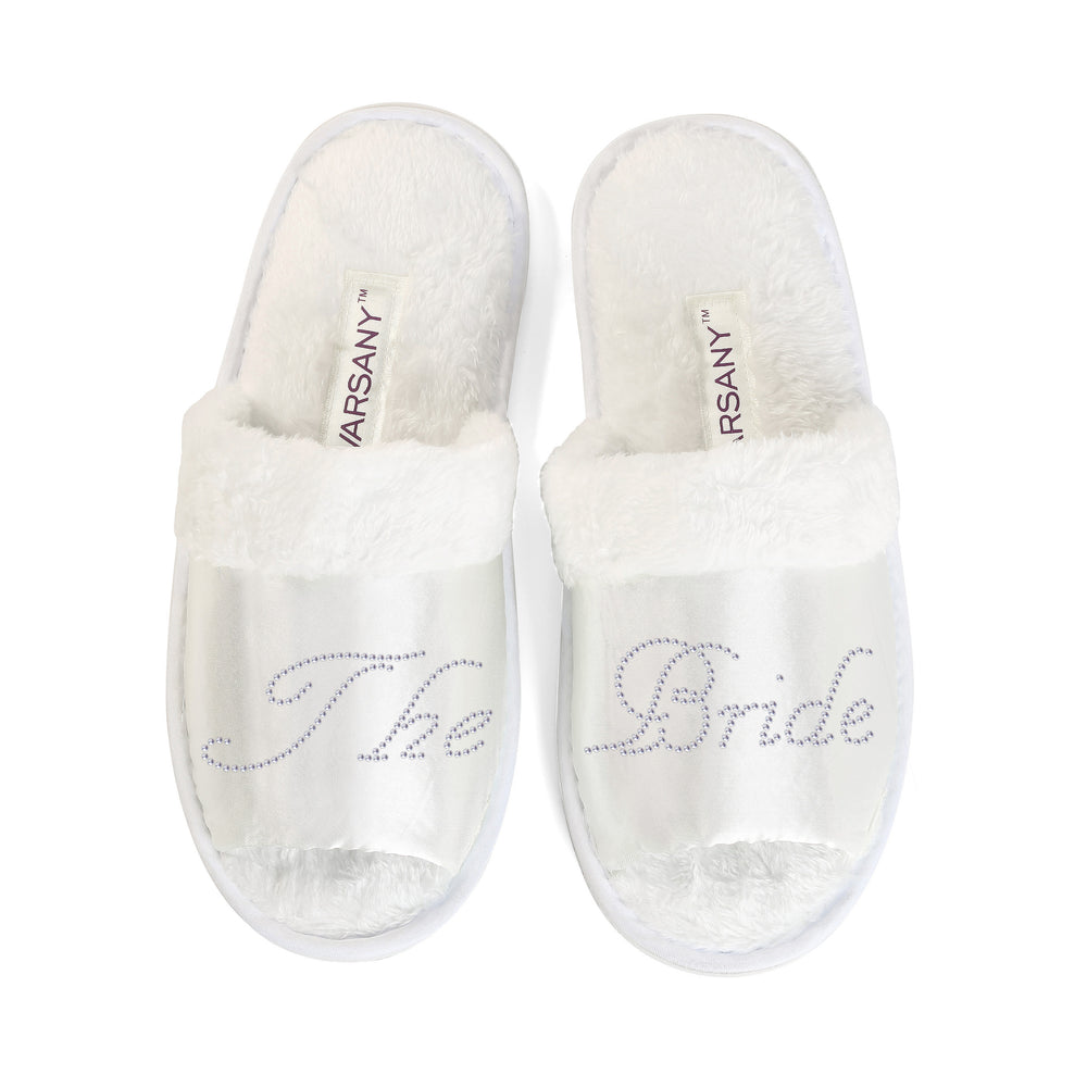 CrystalsRus New The Bride Party Slippers Bride Bridesmaid Spa Hen Weekends Wedding Gift By Varsany (OT) - varsanystore