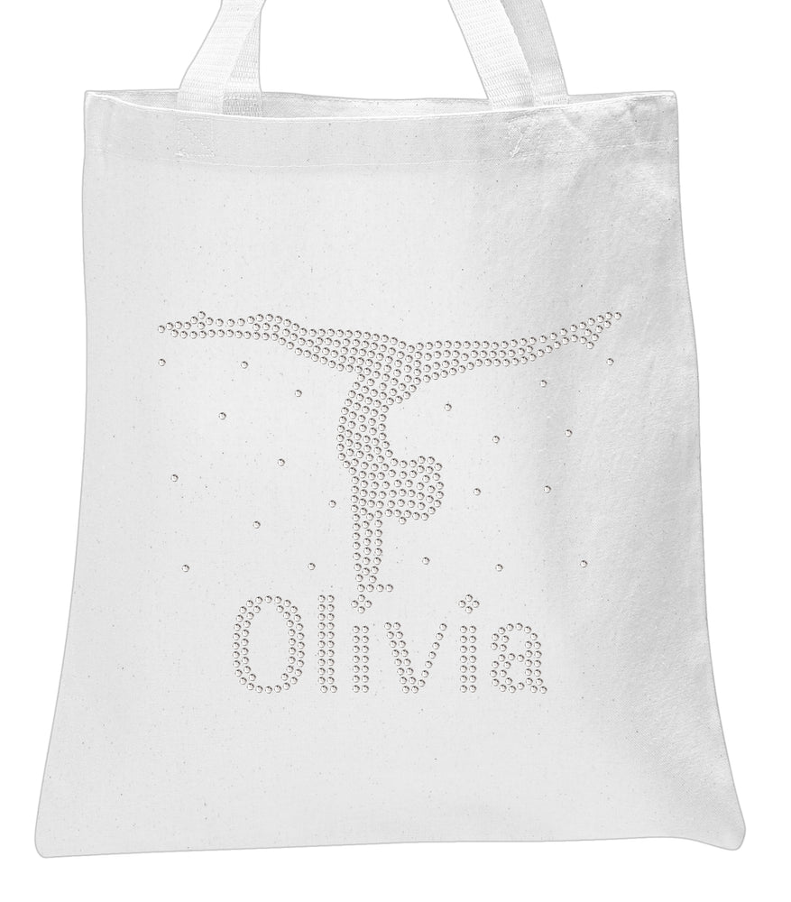 Personalised Girls Hand Stand Tote Bag - varsanystore