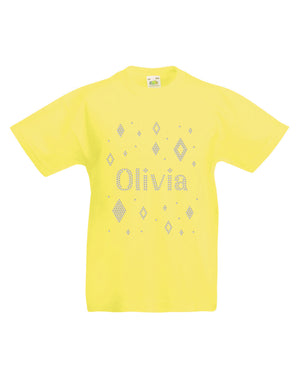 Personalised Diamond Splatter T-Shirt - varsanystore