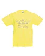 Personalised Girls Tiara Summer T-Shirt - varsanystore