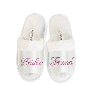 Brides Friend Party Spa Open Toe Slippers - varsanystore