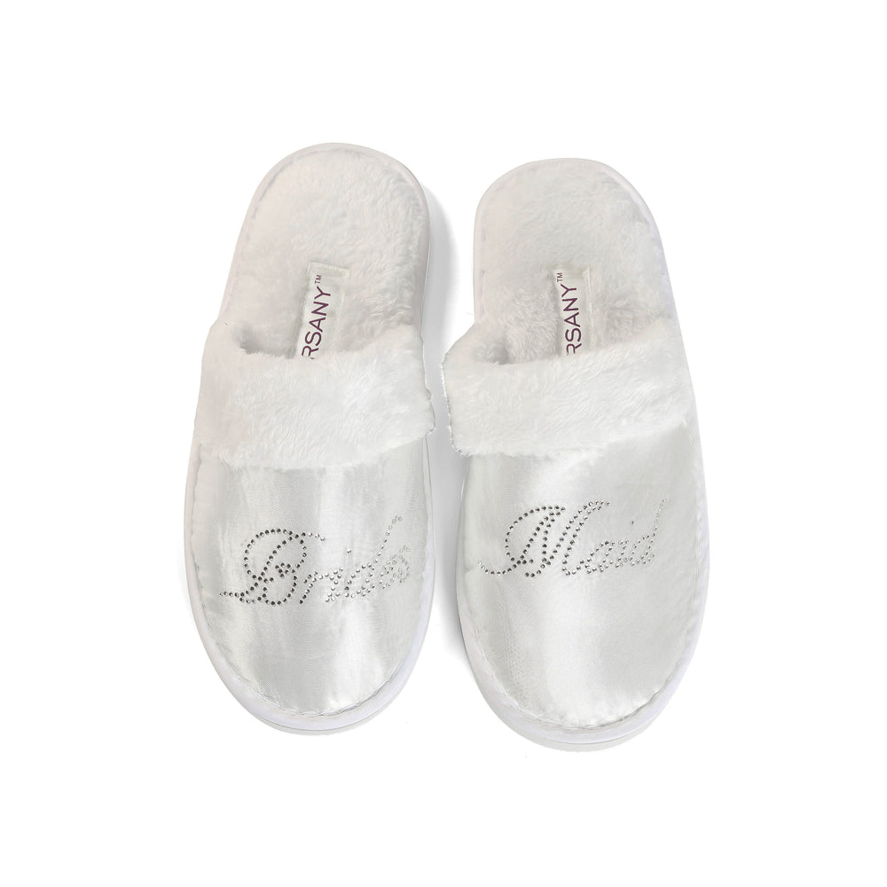 Crystals Bridesmaid Spa Slippers - varsanystore