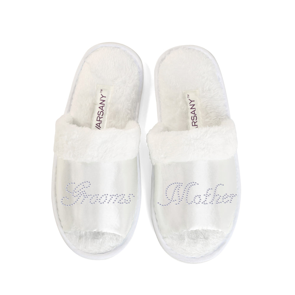 Crystals Grooms Mother Party Spa OT Slippers - varsanystore