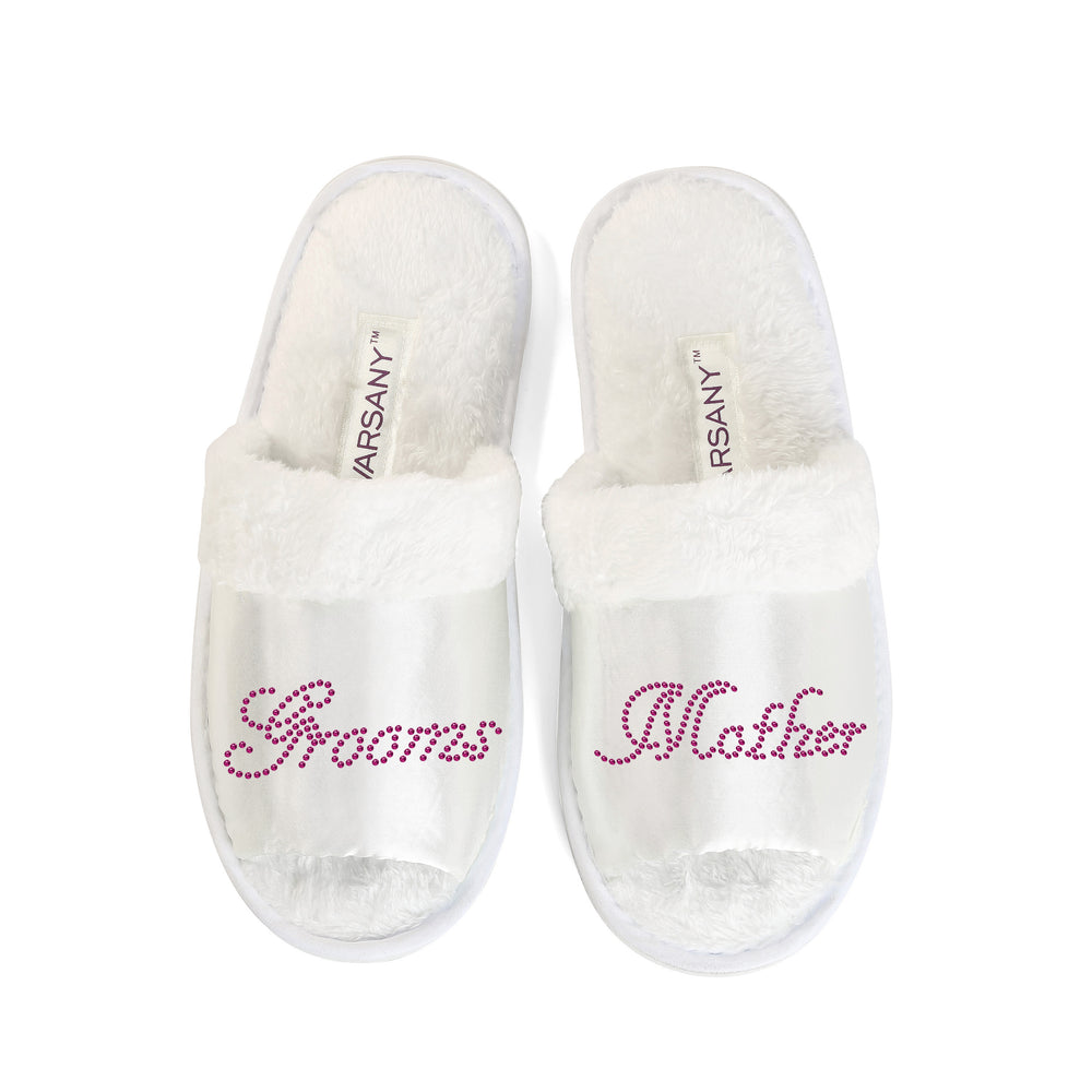 Grooms Mother Party Spa Open Toe Slippers - varsanystore