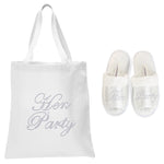 White Hen Party Tote Bag and OT Slippers Spa Set - varsanystore