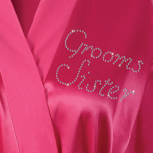 Grooms Sister Satin Dressing Gown / Bathrobe - varsanystore