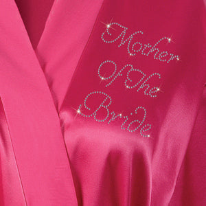 Mother Of The Bride Satin Dressing Gown / Bathrobe - varsanystore