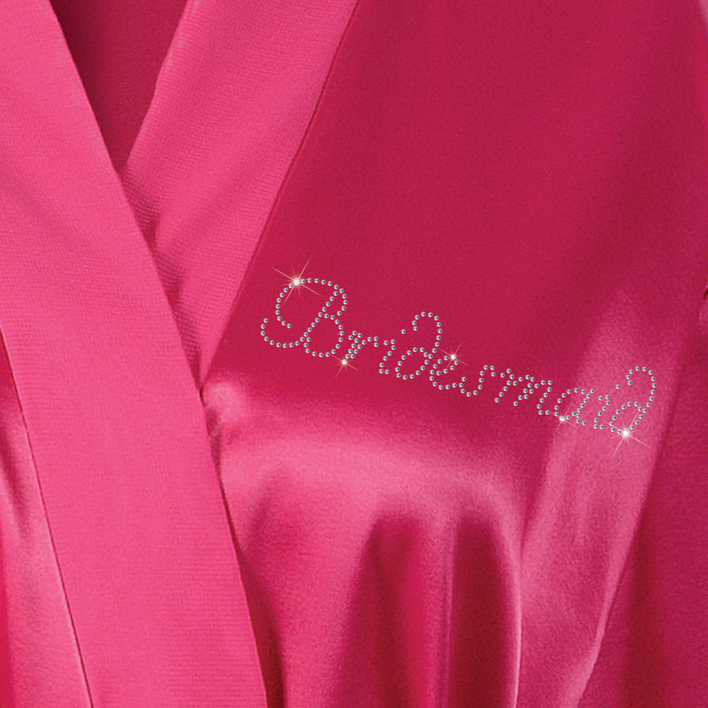 Personalised Bridesmaid Wedding Satin Bathrobe - varsanystore