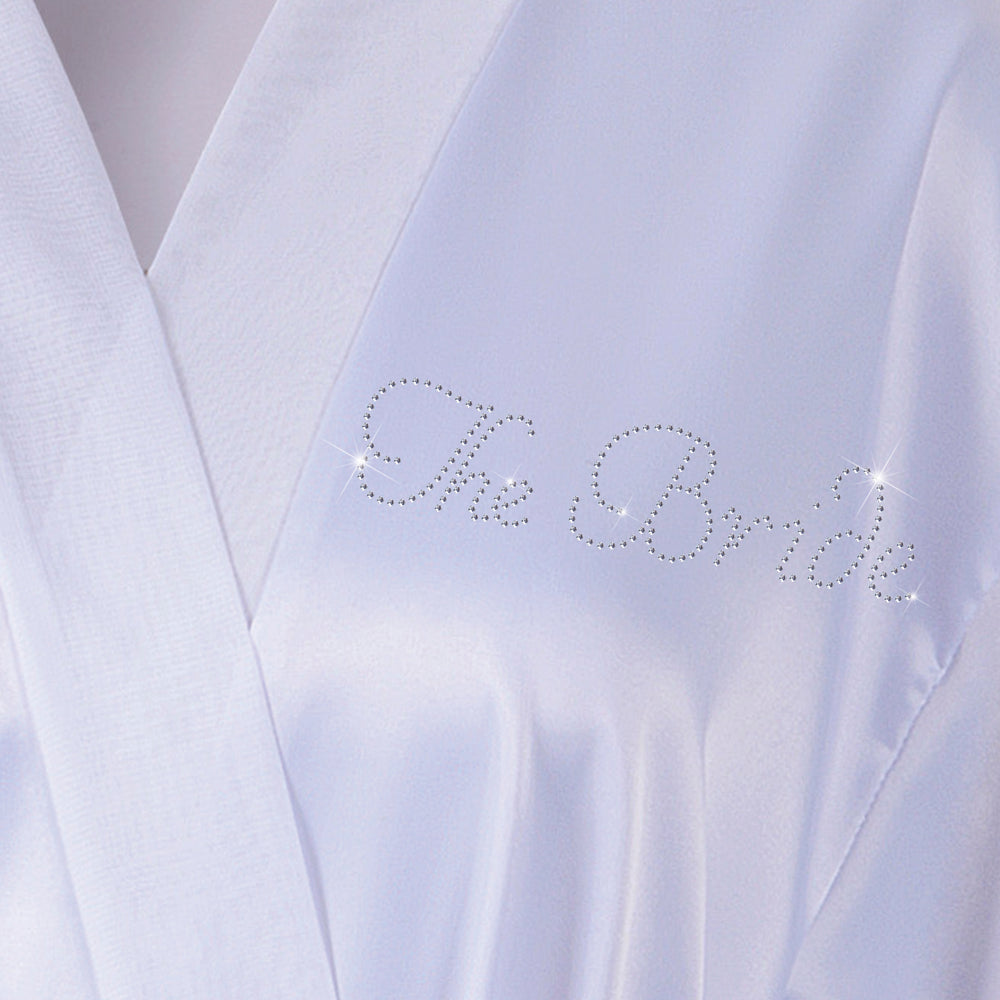 "Personalised ""The Bride"" Wedding Bathrobe/Kimino - varsanystore"