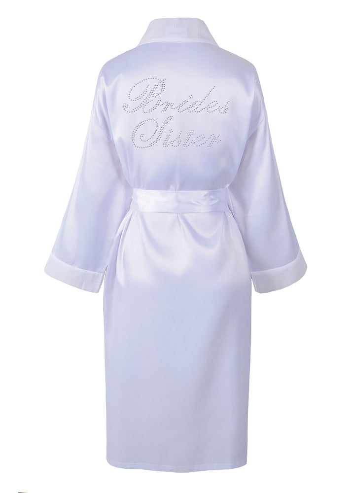 Brides Sister Satin Dressing Gown / Bathrobe - varsanystore