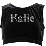 Personalised Girls Black Crop Top - varsanystore