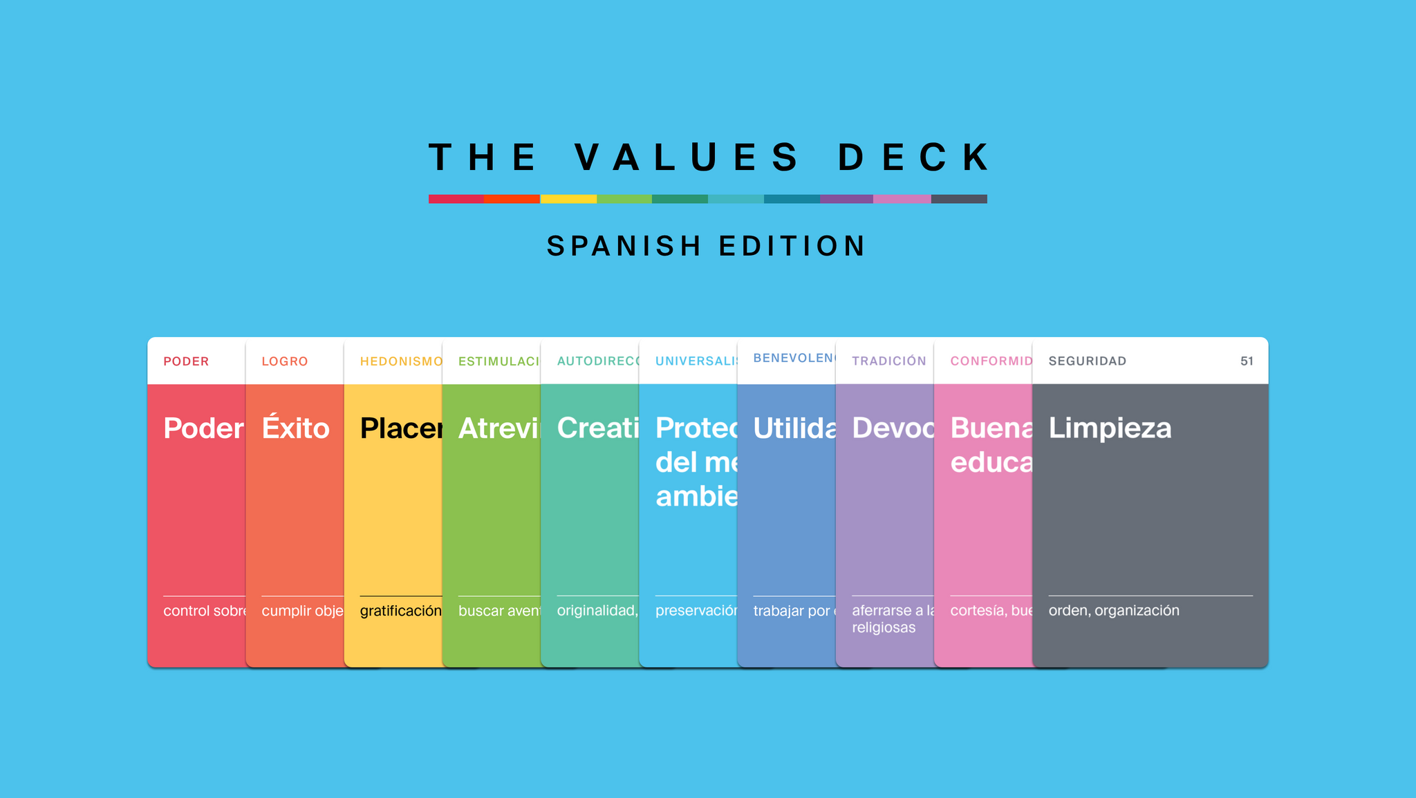 The Values Deck: Spanish Edition