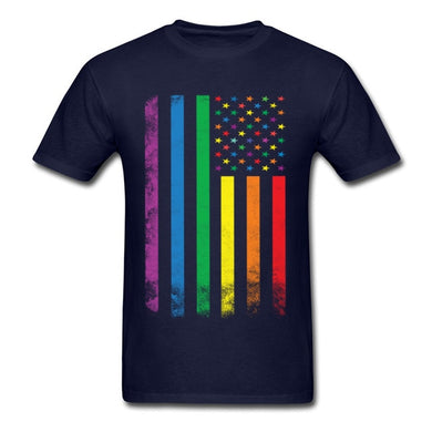Dark Blue USA Pride T-Shirt - Discount Code RAINBOW