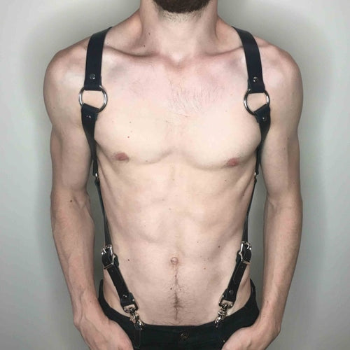 Black Shoulder Body Harness