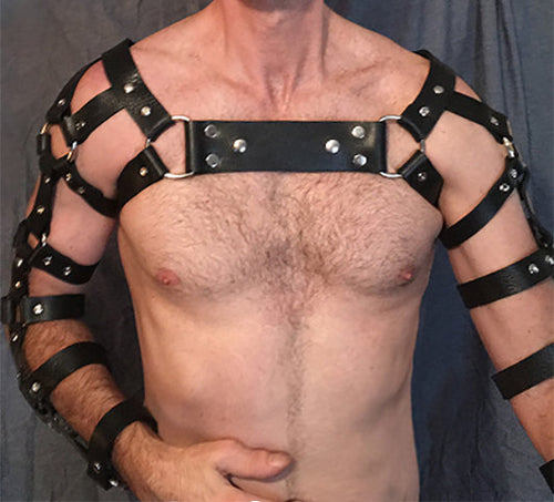 Leather Crossed Arm Harness