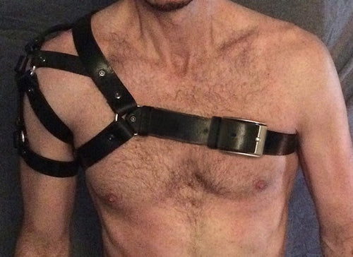 Leather Cross Shoulder Harness