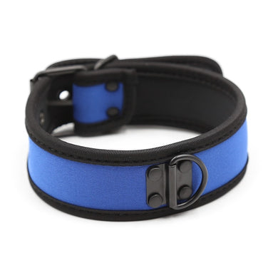 Blue Rubber Puppy Collar