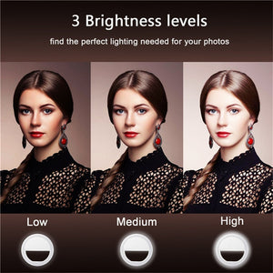 Portable Selfie LED Ring Light