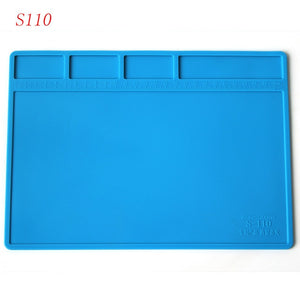 Soldering Mat Silicone Repair Mat Heat Insulation Work Station