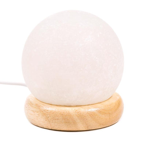 Mini Mood Salt Lamp sphere white USB + LED