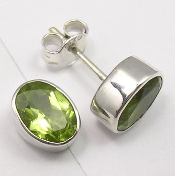 Peridot Sterling Silver Stud Earrings