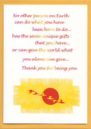 'Thank You for Being You' Greetings Card