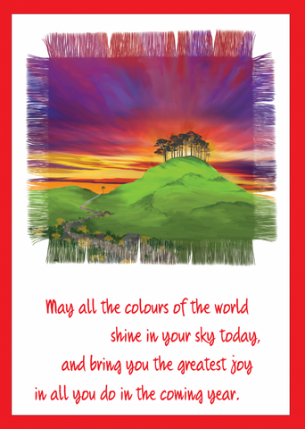 'All the Colours of the World' Greetings Card