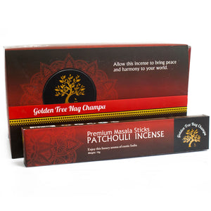Golden Tree Nag Champa Incense - Patchouli